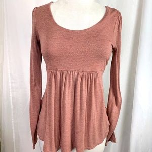 Forever 21 Long-Sleeve Baby Doll Blouse